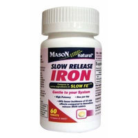 Mason Vitamins Slow Release Iron Tablets, 120 Count