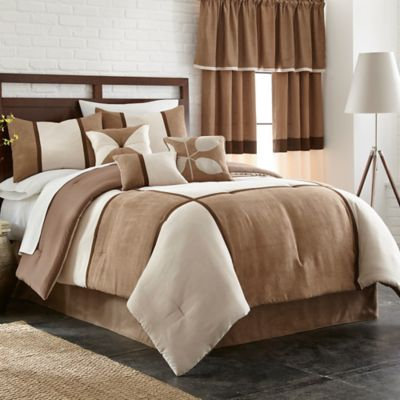 Carlton Comforter Set in Cocoa