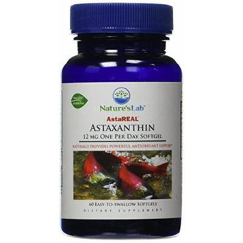 Nature's Lab Astaxanthin Soft Gels, 12 mg, 60 Count