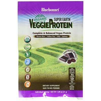 Bluebonnet Super Earth Veggie Protein Powder Original, Chocolate Mocha, 0.55 Pounds