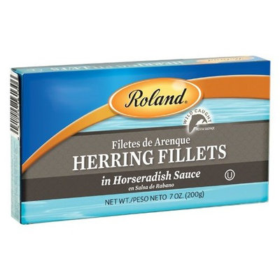 Roland Herring Fillets in Horseradish Sauce, 7-Ounce Can