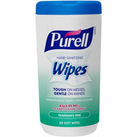 Purell Fragrance Free Hand Sanitizing Soft Wipes, 35 sheets