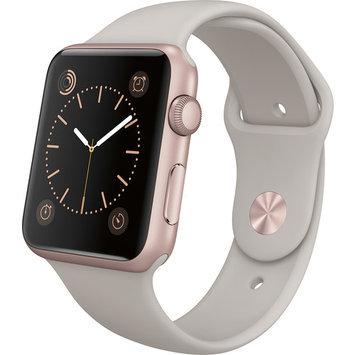 Apple Watch Sport 42mm Rose Gold Aluminum Case - Stone Sport Band