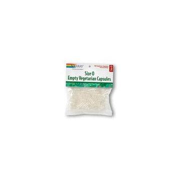 Solaray Empty Vegetarian Capsules, Size 0, 12 Count