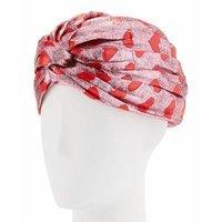 Gucci Lucina Metallic Heart Headband, Pink/Red