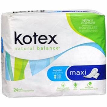 U By Kotex Maxi Pads Regular Unscented - 8 pks of 24
