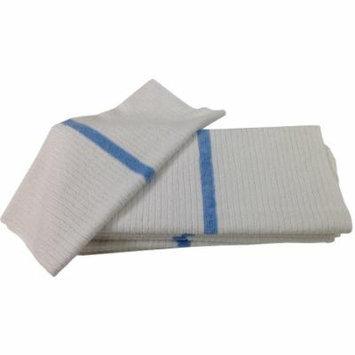 Nouvelle Legende® 14 X 18in Ribbed Bar Mop Microfiber Towels (12 Pack) Blue Stripe