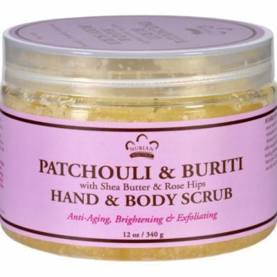 Nubian Heritage Hand and Body Scrub - Patchouli and Buriti - 12 oz