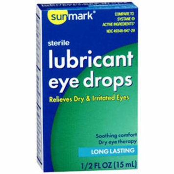 Sunmark Lubricant Eye Drops, Long Lasting - 1/2 oz