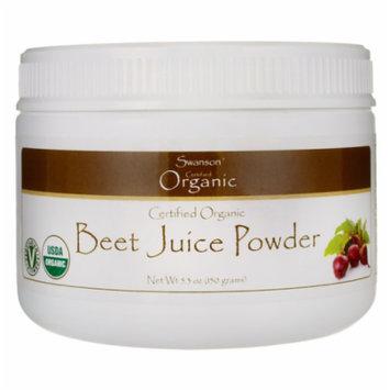 Swanson Certified Organic Beet Juice Powder 5.3 oz (150 grams) Pwdr