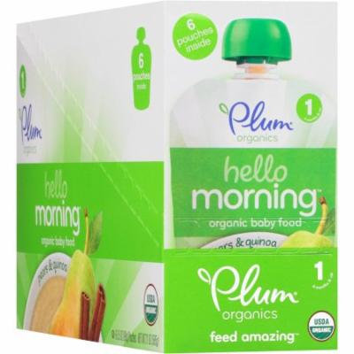 Plum Organics Hello Morning Stage 1 Pears & Quinoa Baby Food, 21 oz, (Pack of 12)