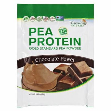 Growing Naturals - Raw Pea Protein Chocolate Power - 0.92 oz.