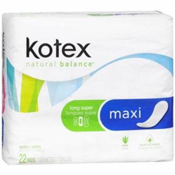 Kotex Maxi Pads Long Super Unscented - 8 pks of 22