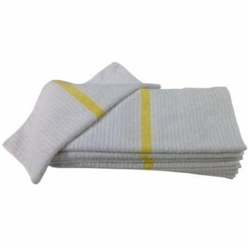 Nouvelle Legende® 14 X 18in Ribbed Bar Mop Microfiber Towels (12 Pack) Yellow Stripe