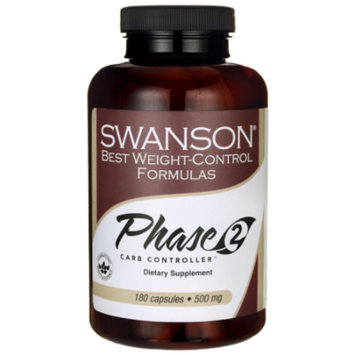 Swanson Phase 2 Carb Controller White Kidney Bea 500 mg 180 Caps