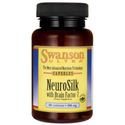 Swanson Neurosilk with Brain Factor-7 200 mg 60 Caps