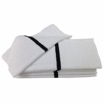 Nouvelle Legende® 14 X 18in Ribbed Bar Mop Microfiber Towels (12 Pack) Black Stripe