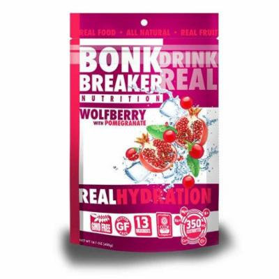 Bonk Breaker Hydration Drink Mix: Wolfberry with Pomegranate, 40 Serving Bag