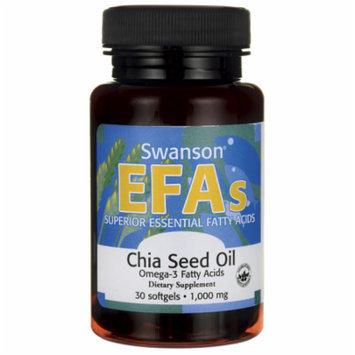 Swanson Chia Seed Oil 1,000 mg 30 Sgels