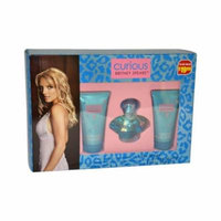 Curious by Britney Spears for Women - 3 Pc Gift Set 1oz EDP Spray, 1.7oz Body Souffle, 1.7oz Shower Gel