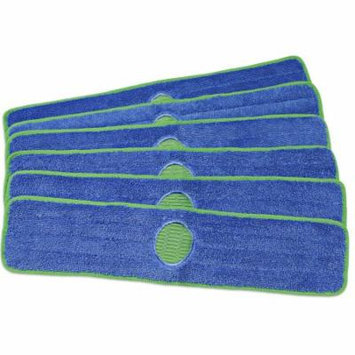 CleanAide® Spot Cleaning 24 Inch Twist Yarn Microfiber Mop Pad with Scrubber - 6 Pack