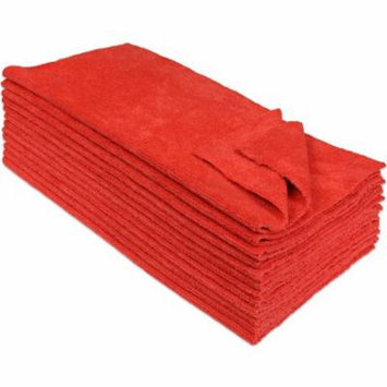 Eurow® Microfiber 14 x 14in 300 GSM Ultrasonic Cut Cleaning Towels 12-Pack