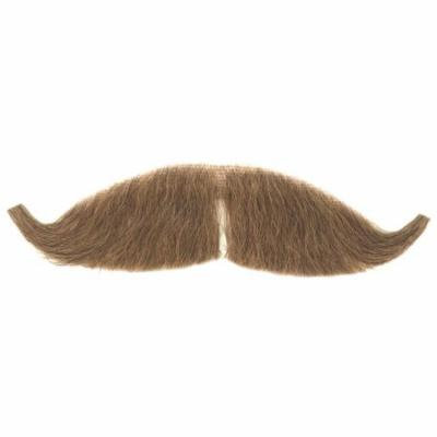 Loftus Men Real Human Hair Petit Handlebar Gay 90s Moustache, Brown, One Size