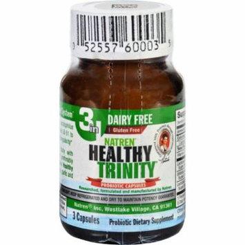 Natren Healthy Trinity Probiotic - 3 Capsules - Case of 6