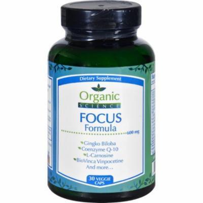 Organic Science Focus Formula - 30 Veggie Caps