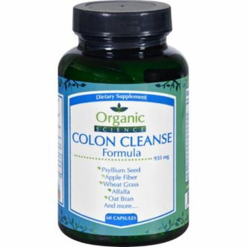 Organic Science Colon Cleanse Formula - 60 Capsules