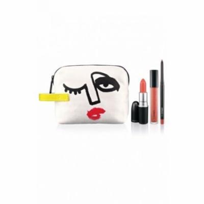 MAC Illustrated PEACH x3 Lip Color & Bag by Julie Verhoeven