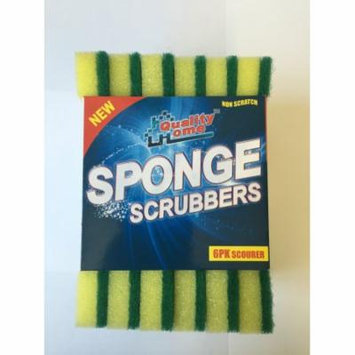 Quality Home Heavy Duty Scrubber Sponges - 6 Pack + FREE SHIPPING!