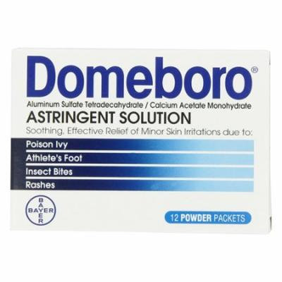 Astringent Solution Powder Packets, Generic To: Domeboro - 12 Ea