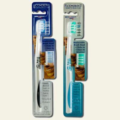Lotus Brands - Eco-Dent Replaceable Head Toothbrush, Medium, 1 ea