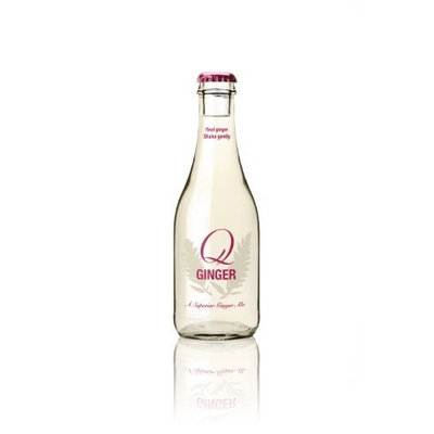 Q Ginger Q-Ginger, 8-Ounce Glass Bottles (Pack of 24)