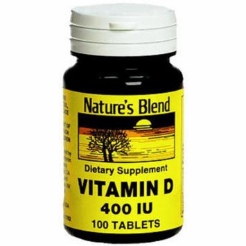Nature's Blend Vitamin D 400 IU - 100 Tablets