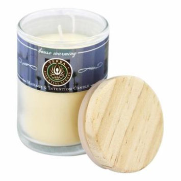 Terra Essential Scents - Massage & Intention Soy Candle House Warming Traditional - 2.5 oz.