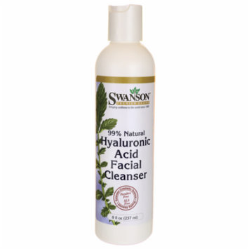 Swanson Hyaluronic Acid Facial Cleanser 99% Natu 8 fl oz (237 ml) Liquid