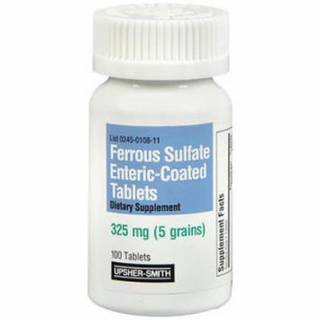 Upsher-Smith Ferrous Sulfate 325 mg - 100 Tablets