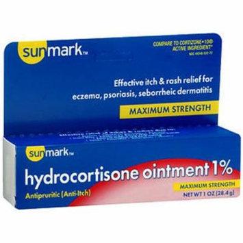 Sunmark Hydrocortisone Ointment 1% Maximum Strength With Aloe - 1 oz