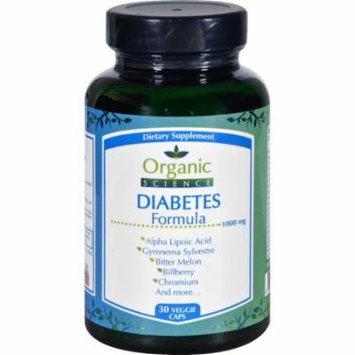 Organic Science Diabetes Formula - 30 Veggie Caps