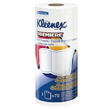 Kleenex Towels Premier Kitchen Paper Towels (13964), Cloth-Like Softness, Perforated, 24 Rolls / Case, 70 Kleenex Paper Towels / Roll