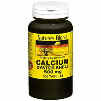 Nature's Blend Oyster Shell Calcium 500 mg Tablets - 100 ct