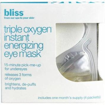 Bliss Triple Oxygen Instant Energizing Eye Mask, 4 count