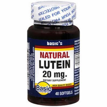 Basic Vitamins Natural Lutein 20 mg - 40 ct