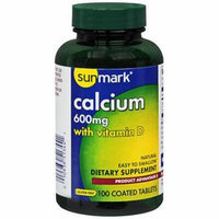 Sunmark Calcium 600 mg, with Vitamin D, Tablets - 100 coated Tablets