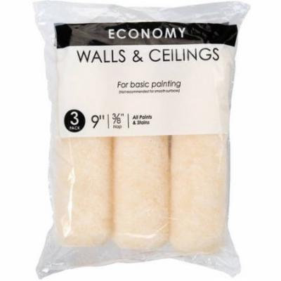 Economy Walls and Ceilings Roller Covers, 3pk