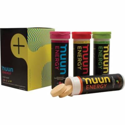 Nuun ENERGY Electrolyte/Caffeine Enhanced Supplement Hydration Tablets - Mixed 4-Pack