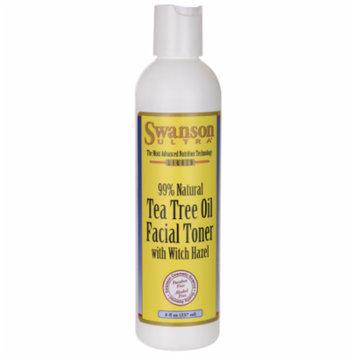 Swanson Tea Tree Oil Facial Toner with Witch Haz 8 oz (237 ml) Liquid