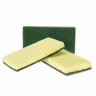 Heavy-Duty Scrubbing Sponge, Yellow/Green